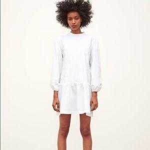 NWT Zara Pleated Poplin Dress